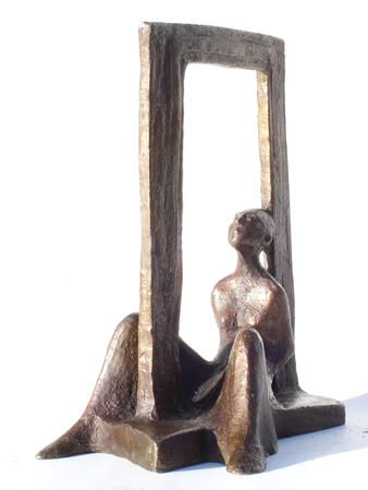 seated figure in frame